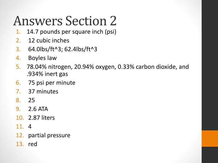 Answers Section 2