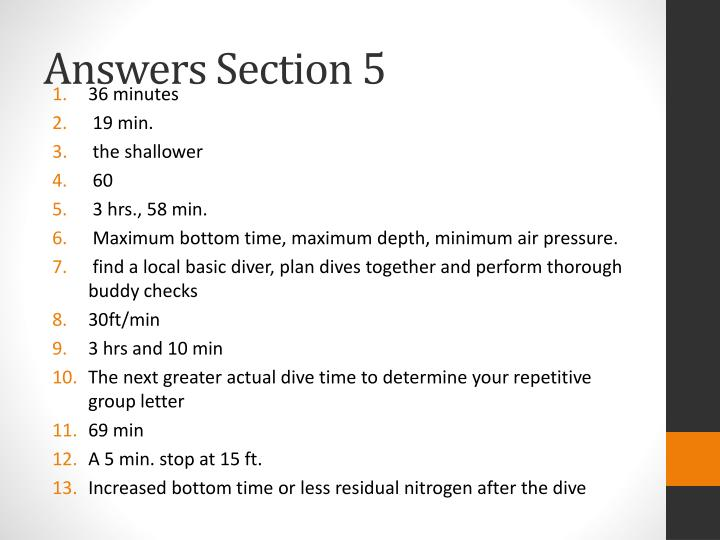 Answers Section 5