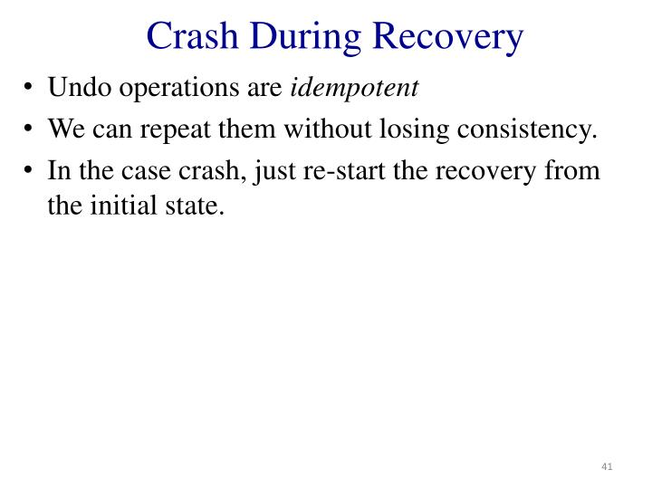 Crash During Recovery