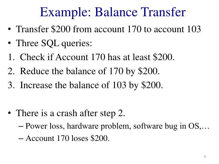 Example: Balance