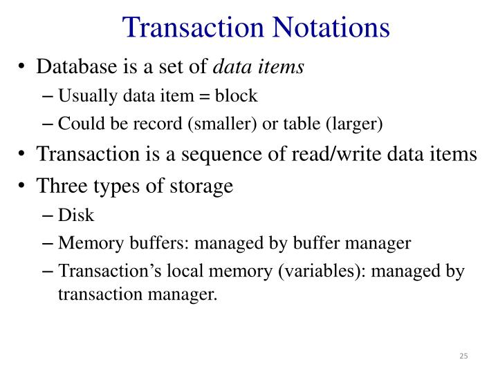 Transaction Notations