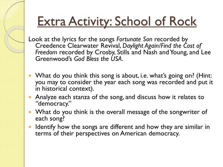 Extra Activity: School of Rock