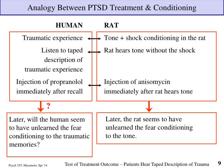 Analogy Between PTSD Treatment & Conditioning