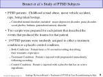 brunet et al s study of ptsd subjects
