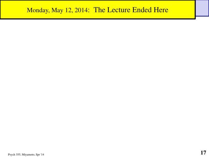Monday, May 12, 2014