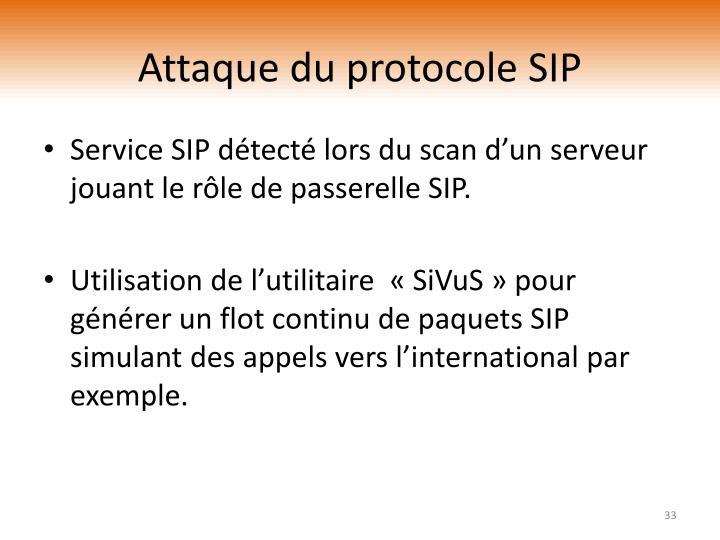 Attaque du protocole SIP