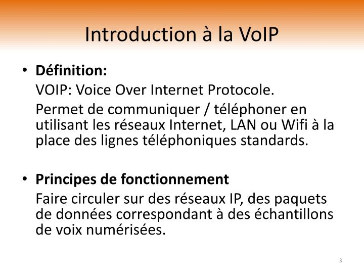 Introduction la voip