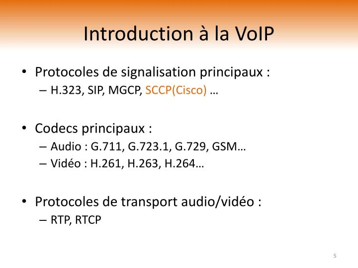Introduction à la VoIP