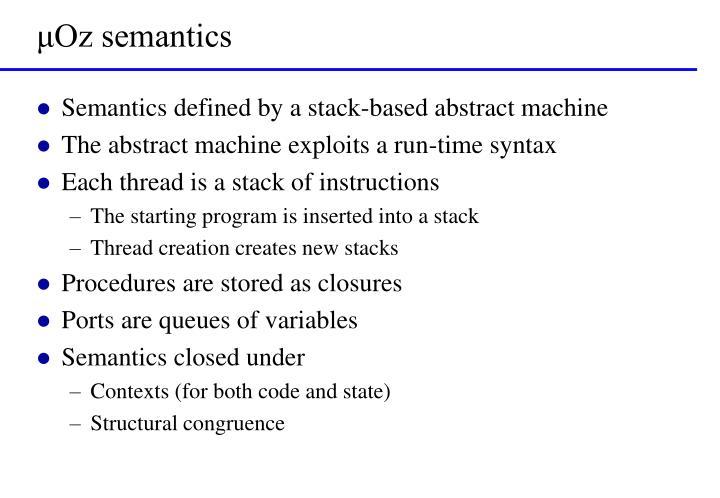 μOz semantics