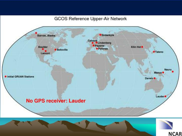 No GPS receiver: Lauder