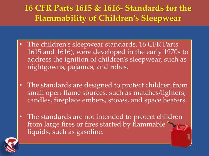 16 CFR Parts 1615 & 1616-