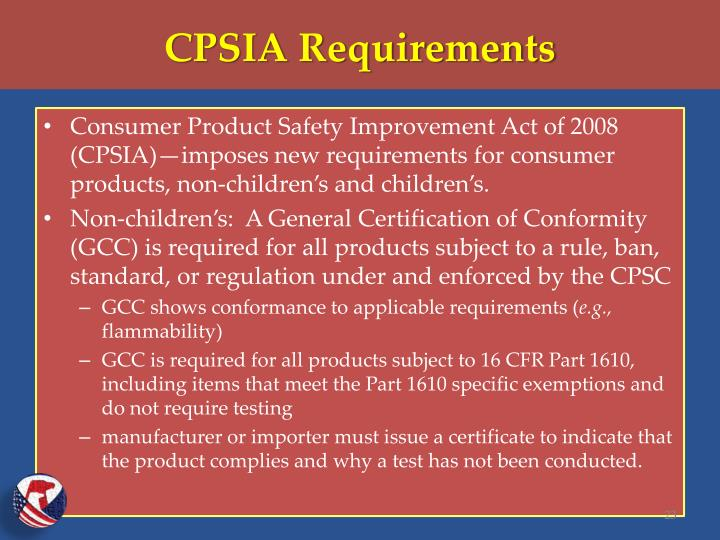 CPSIA Requirements