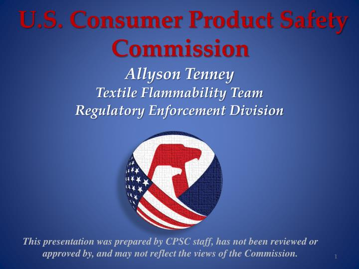 U s consumer product safety commission