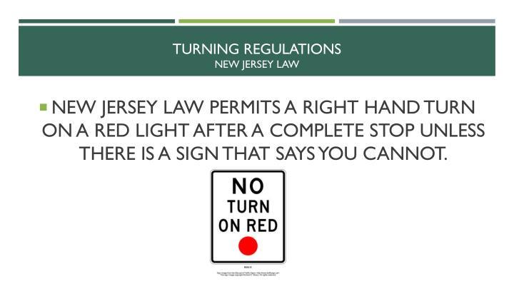 Turning regulations