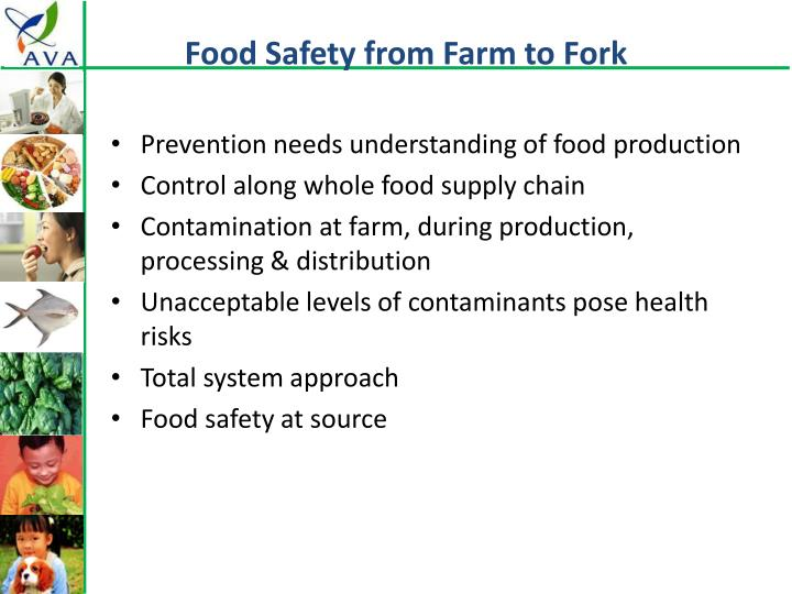 Food Safety from Farm to Fork