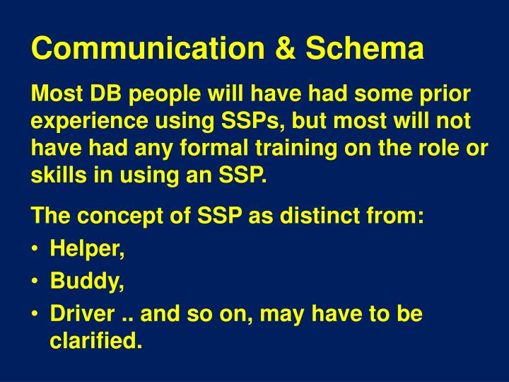 Communication & Schema