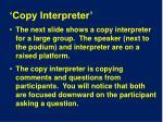 copy interpreter