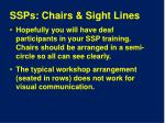 ssps chairs sight lines