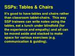 ssps tables chairs