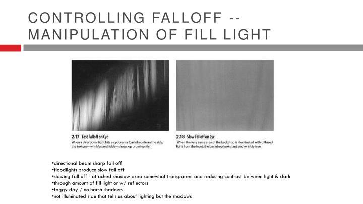 Controlling Falloff