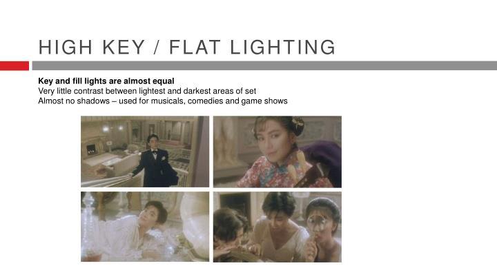 High key / flat lighting
