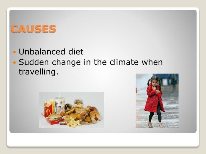 Unbalanced diet