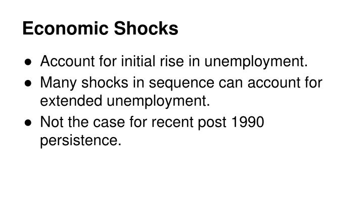 Economic Shocks