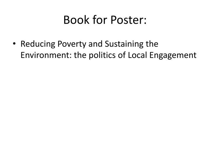 Book for Poster: