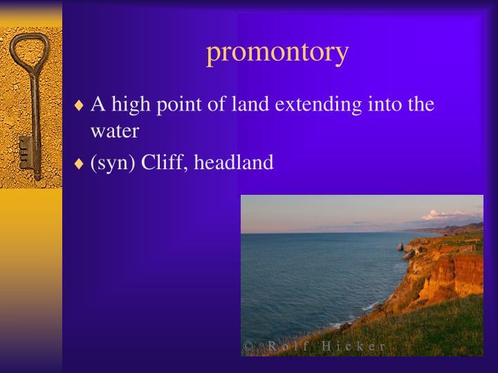 promontory