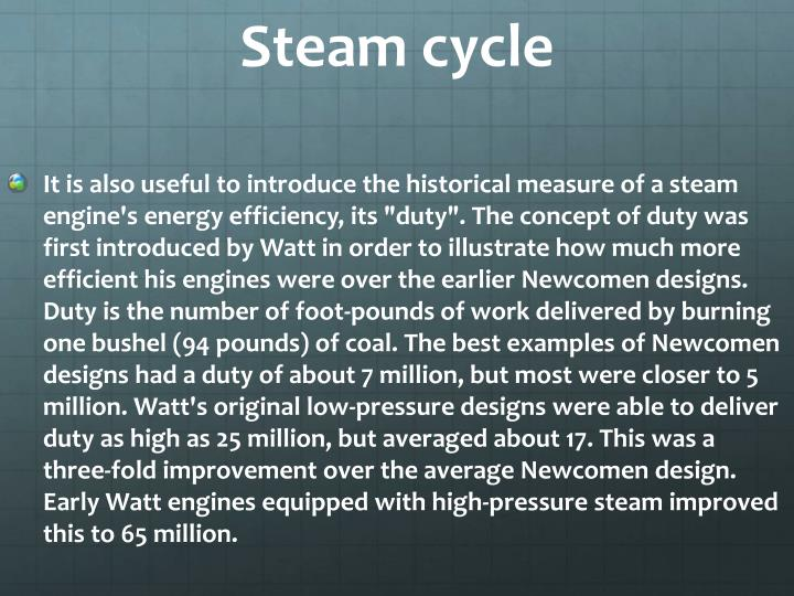 Steam cycle
