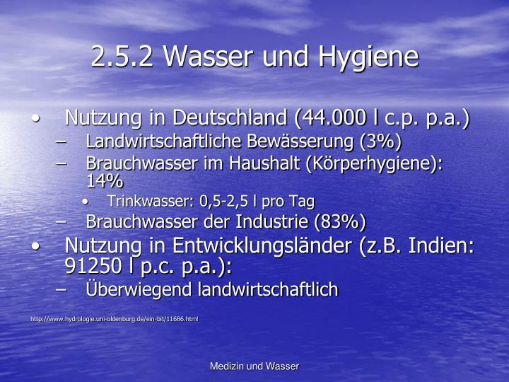 2.5.2 Wasser und Hygiene