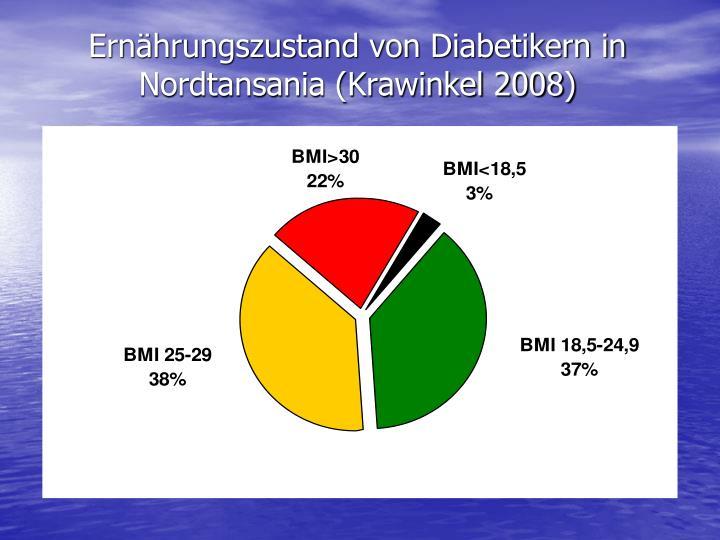 Ernährungszustand von Diabetikern in Nordtansania (Krawinkel 2008)