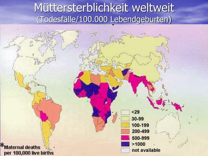 Müttersterblichkeit weltweit