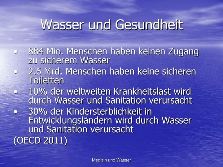 Wasser und Gesundheit