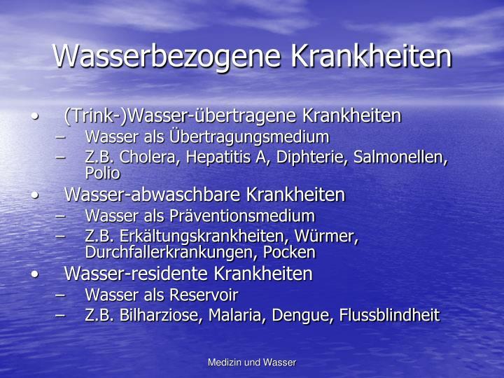 Wasserbezogene Krankheiten