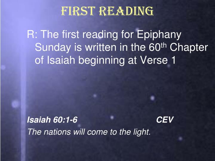 FIRST READING