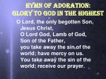 hymn of adoration glory to god in the highest1