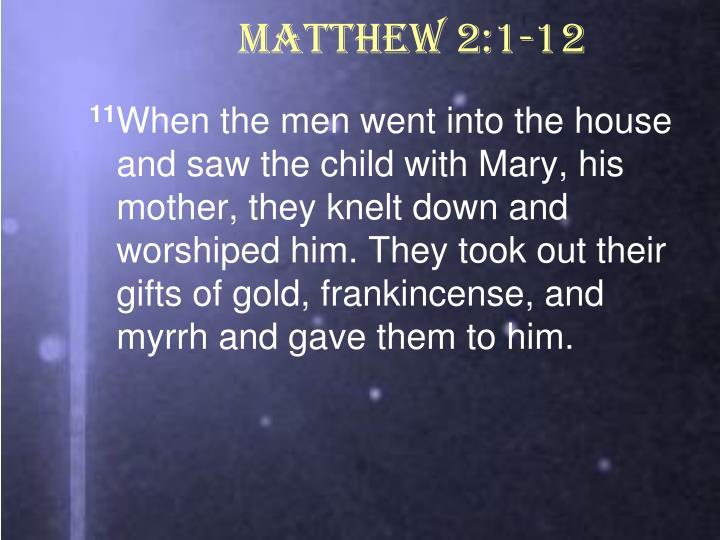 Matthew 2:1-12
