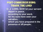 post communion song thank the lord