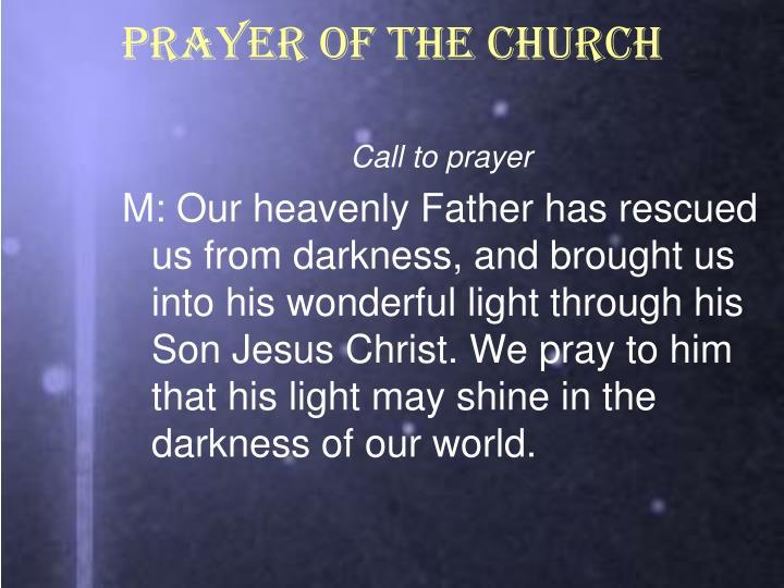 PRAYER OF THE CHURCH