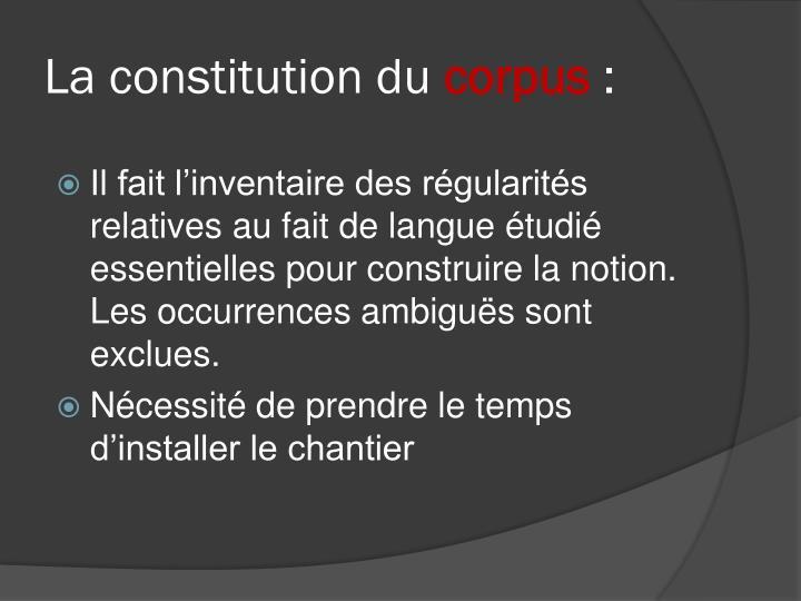 La constitution du