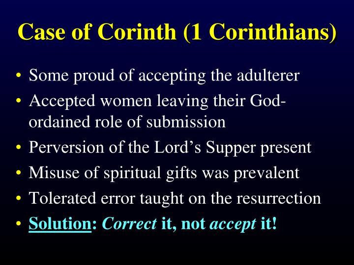 Case of Corinth (1 Corinthians)