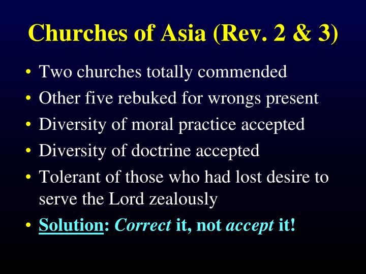 Churches of Asia (Rev. 2 & 3)