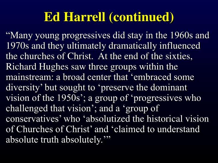 Ed Harrell (continued)