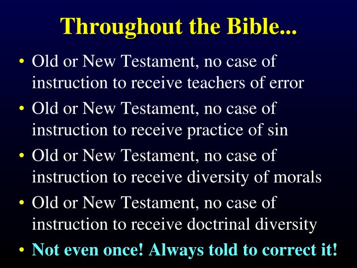 Throughout the Bible...