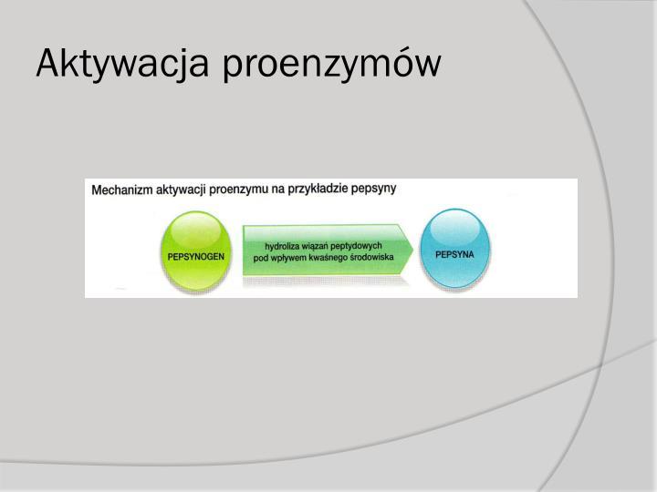 Aktywacja proenzymów