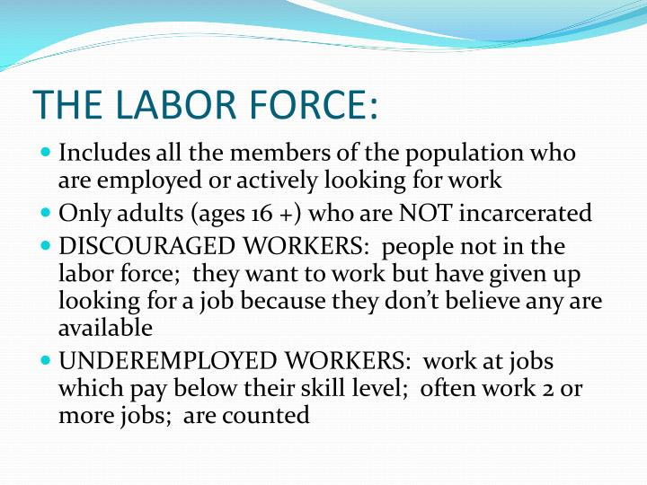 The labor force