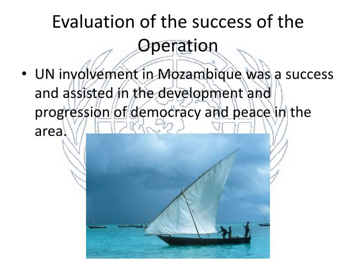 Evaluation of the success of the Operation