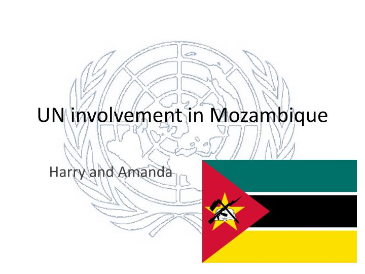 Un involvement in mozambique