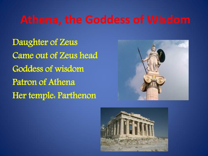 Athena, the Goddess of Wisdom